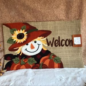 Fall Friendly Scarecrow Welcome Mat